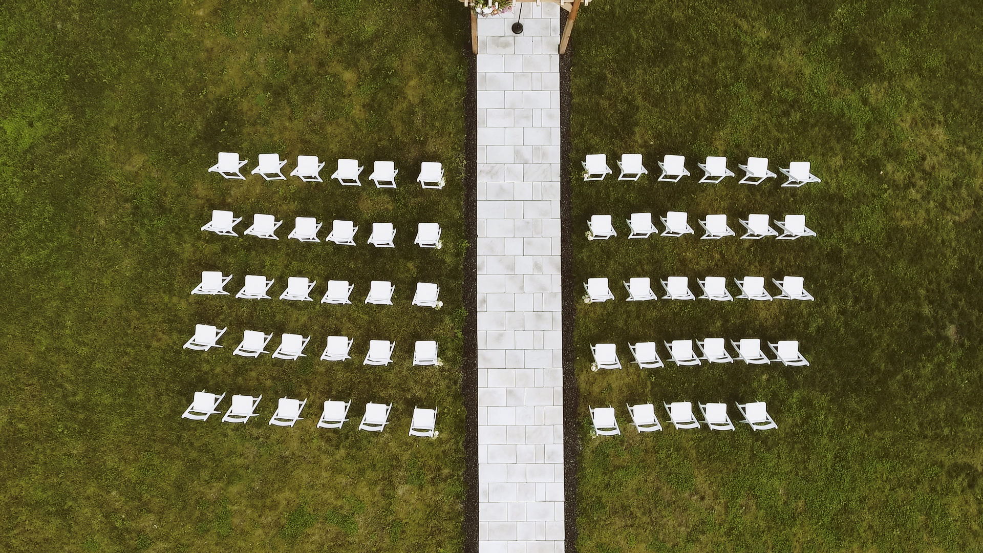 Outdoor Wedding Ceremony overlooking Fingerlakes New York at Crispin Hill