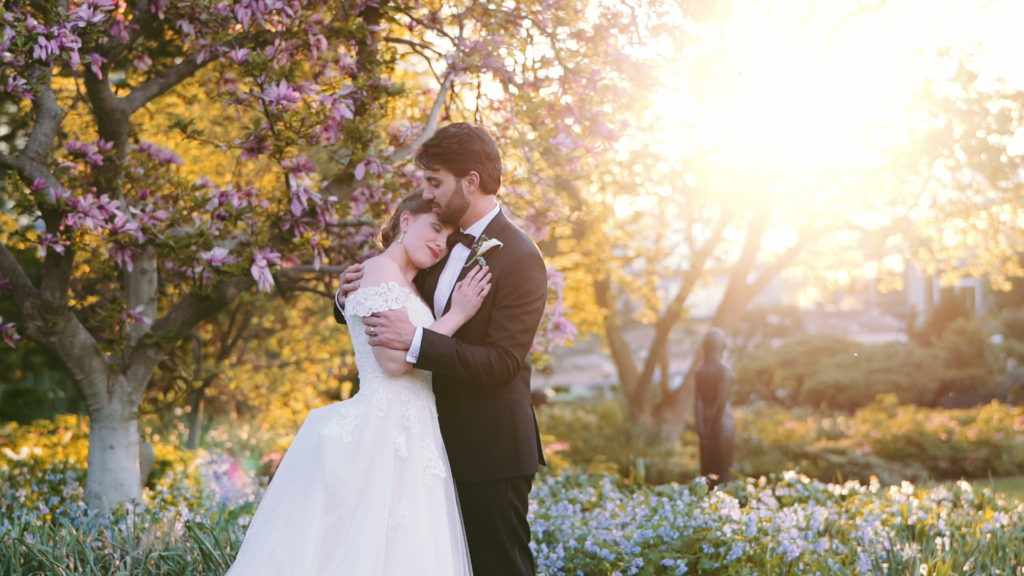 sunset in the garden - wedding video