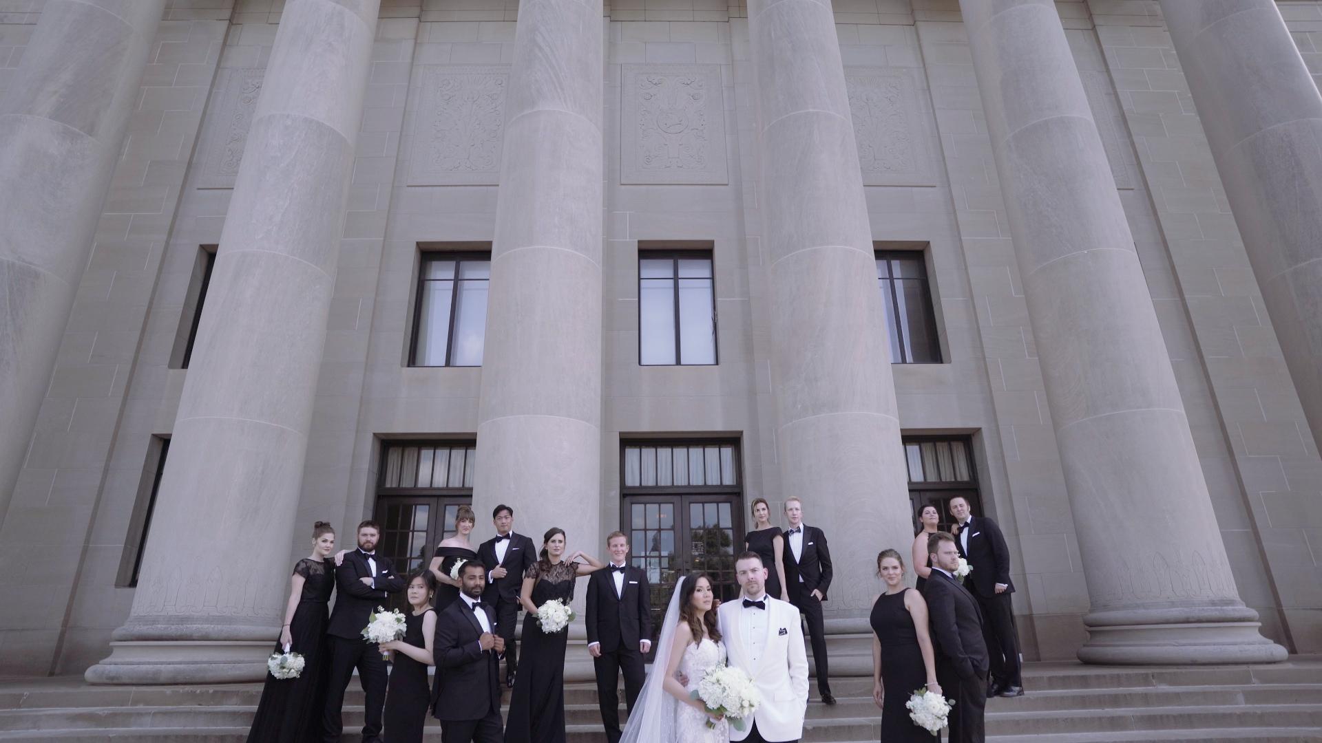 Nelson-Atkins Museum Of Art wedding photo